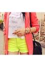 Chartreuse-wwwromwecom-shorts