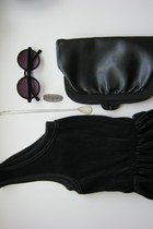 black Dixi sunglasses - black Vintage  Dixi dress - black Vintage  Dixi bag