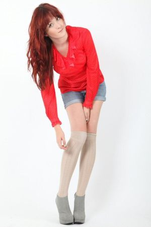 silver Dixi shoes - beige Dixi socks