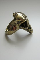 bronze bird skull ring ring