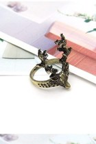 gold deer me ring Dixi necklace