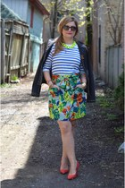 Witboy blazer - French Connection skirt - Zara t-shirt - Pour La Victoire wedges