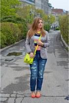 Zara jeans - D&G blazer - Marc by Marc Jacobs t-shirt - Pour La Victoire wedges