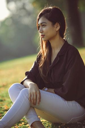 asos blouse - Bershka pants