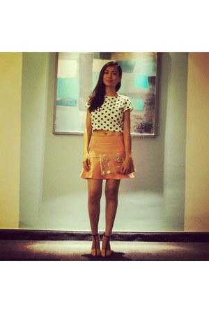 Zara skirt - River Island top - Zara heels