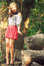 Pink-forever21-skirt-gray-forever21-shirt-brown-bcbg-shoes-green-present-f