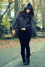 Navy-thrifted-vintage-blouse-black-forever-21-jeans-black-payless-jeans-bl