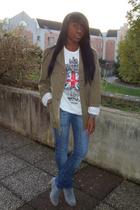 jacket - pull&bear shirt - Zara jeans - boots