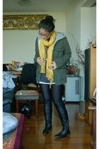 Carhartt jacket - BAPE top - BDG t-shirt - American Apparel leggings - Bottega V