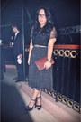 Black-platform-steve-madden-heels-brown-vintage-emporio-armani-purse