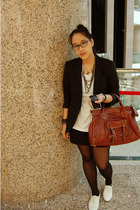 Zara blazer - H&M skirt - Chloe purse - Topshop shoes