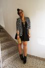 H-m-skirt-black-h-m-blazer-black-jeffrey-campbell-shoes-gold-chanel-purse-