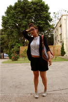 Chanel blazer - DIY t-shirt - Fendi purse