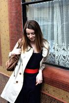 monoprix dress - Top Shop belt - gerard darel purse