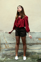 etam blouse - H&M shorts - Urban Outfitters shoes