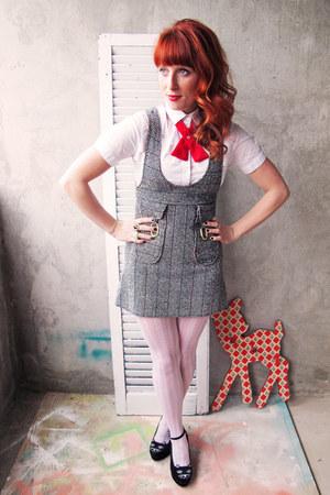red red velvet Flapper Girl tie