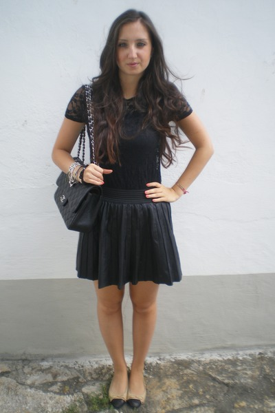 Leather Skirt Lace Top - Dress Ala