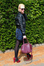 Navy-chicnova-dress-black-h-m-jacket-crimson-h-m-bag