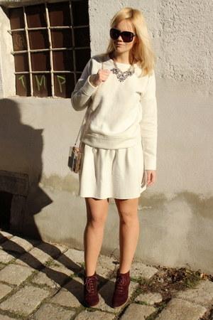 white sammydress skirt - beige Tally Weijl bag - black Gucci sunglasses