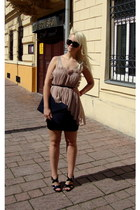 H&M bag - Gucci sunglasses - Guess sandals - OASAP top - Terranova skirt
