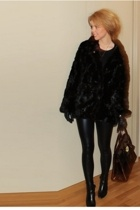 H&M coat - Cubus leggings - calvin klein shoes - Mulberry purse - Gucci gloves