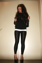 Cubus jacket - H&M sweater - H&M top - H&M leggings - christian dior shoes