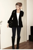 Filippa K blazer - H&M top - J Brand jeans - christian dior boots - christian di
