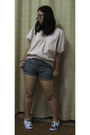 Striped-shorts-loose-top-handmade-leinier-sneakers