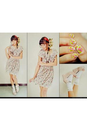 floral print Candies dress - Melissa wedges