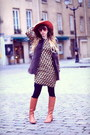 Tawny-minal-boots-black-zara-dress-tawny-urban-outfitters-hat