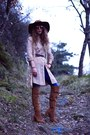 Tawny-zara-boots-nude-maison-scotch-dress-blue-salsa-jeans