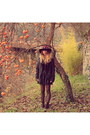 Dark-brown-vintage-shoes-ruby-red-zara-hat-black-maison-scotch-jacket