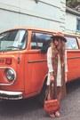 White-spell-designs-dress-burnt-orange-filippo-catarzi-hat