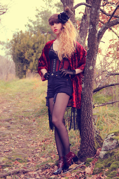 ruby red richelieu shoes - black Topshop shorts - ruby red vedettestore intimate