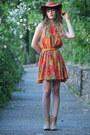 Tan-les-ptites-bombes-boots-carrot-orange-pepe-jeans-dress