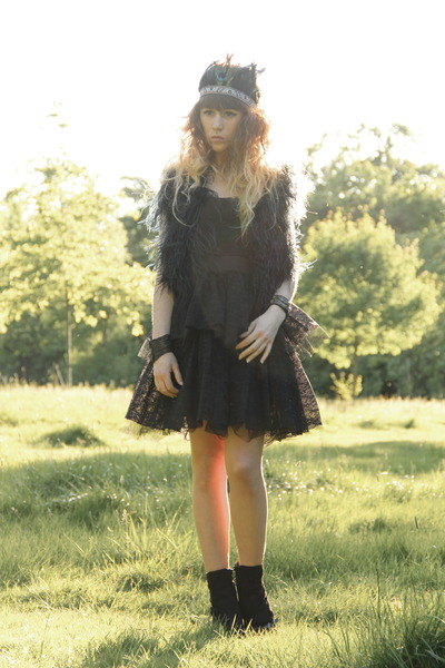 black Only dress - black Only One jacket - black H&M accessories