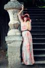 Silver-vila-dress-burnt-orange-urban-outfitters-hat-dark-brown-asos-heels