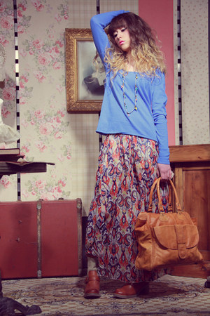 violet Pepe Jeans skirt - bronze we do boots - bronze pieces bag