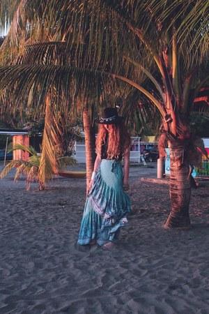 sky blue Spell Designs skirt - black Missguided hat