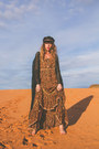 Bronze-spell-designs-dress-black-fallen-broken-street-hat