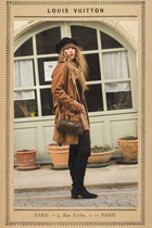 black Mango boots - black asos hat - brown Louis Vuitton bag