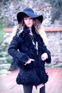 Black-robert-clergerie-boots-black-vintage-coat-black-h-m-hat