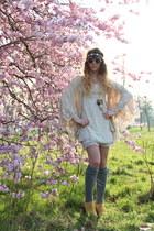 lace Molly Bracken dress - Topshop sunglasses - lace Zara cardigan