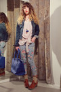 Tawny-we-do-boots-periwinkle-floral-print-maison-scotch-jeans