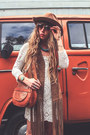 White-spell-designs-dress-burnt-orange-filippo-catarzi-hat