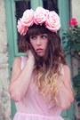 Light-pink-zara-dress-light-pink-doll-poupée-hair-accessory