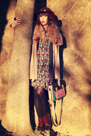 richelieu shoes - asos dress - Molly Bracken coat - Zara hat