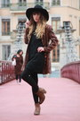 Bronze-bertie-boots-black-molly-bracken-dress-black-monki-hat