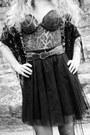 Black-vero-moda-scarf-dark-brown-asos-boots-tawny-vintage-belt