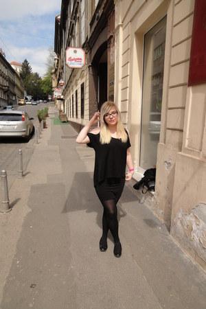 cut out sleeves OASAP shirt - pencil skirt H&M skirt - Deichmann flats